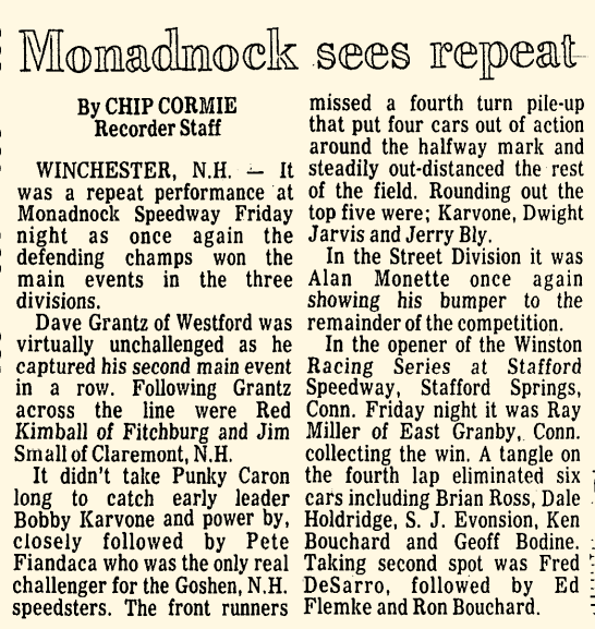 1977-05-06 – from Greenfield Recorder of 05-09 Stafford